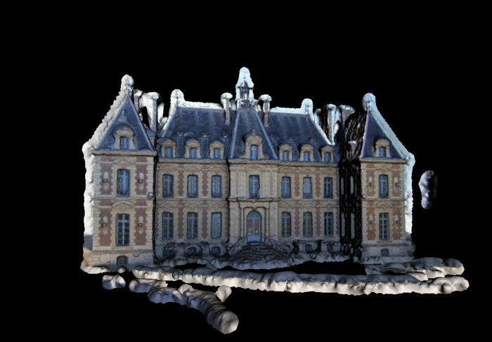 a 3d model of Sceaux Castle created by Pierre Moulon
