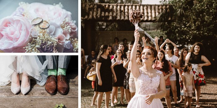 A wedding photography montage created with cool free photoshop templates