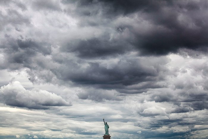 The Statue of Liberty, as seen from the Staten Island Ferry. best places to take pictures in nyc