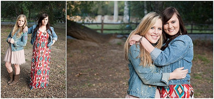 Stunning teenager portrait of two friends posing outdoors