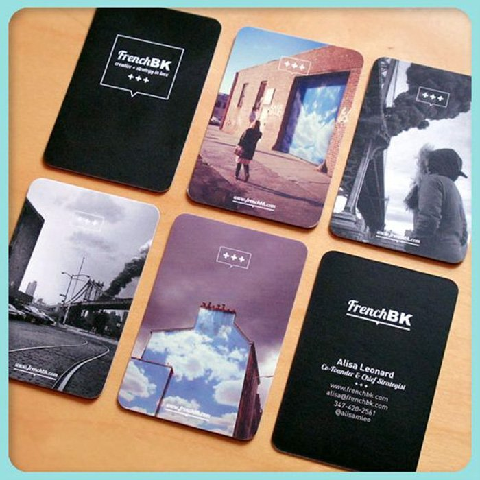A set of photography business cards by Alisa Leonard