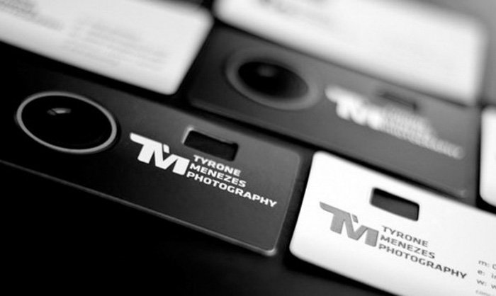 photography business card for photographer Tyrone Menezes