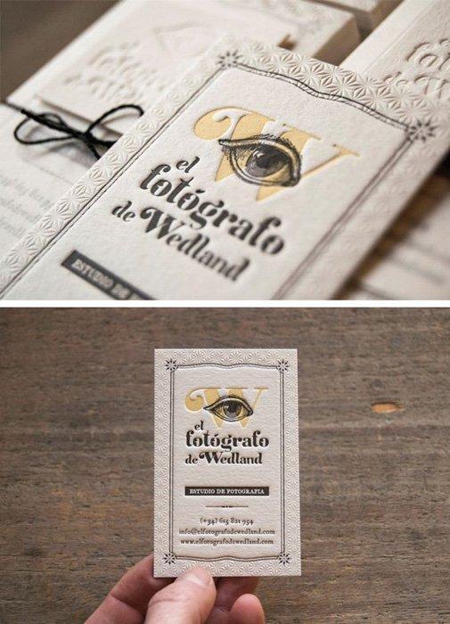 El Fotógrafo de Wedland photography business cards ideas