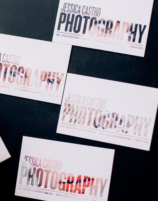 Jessica Castro Photography business cards ideas