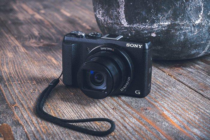 A compact Sony camera