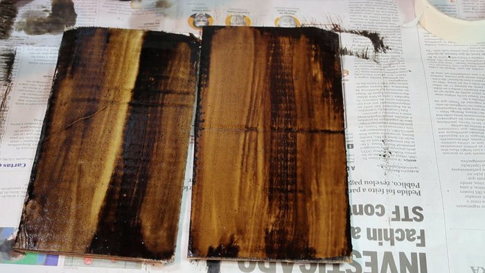 The process of printing with bitumen