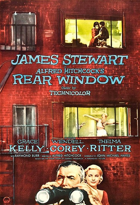The poster for Rear Window - 1954, photography movies
