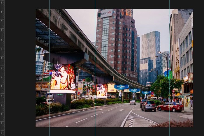 Screenshot showing how to crop images in Photoshop - Photoshop guidelines