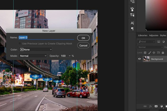 Screenshot showing how to crop and straighten images in Photoshop - unlock background layer