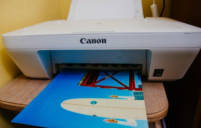 Using a canon printer to print iphone photos