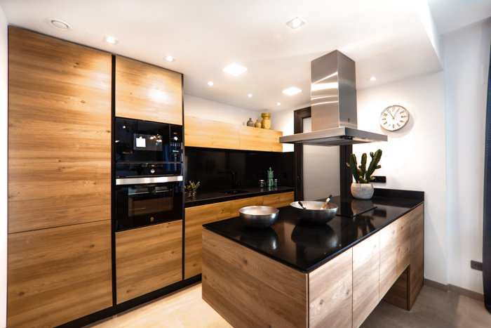 Property photography shot of a new kitchen