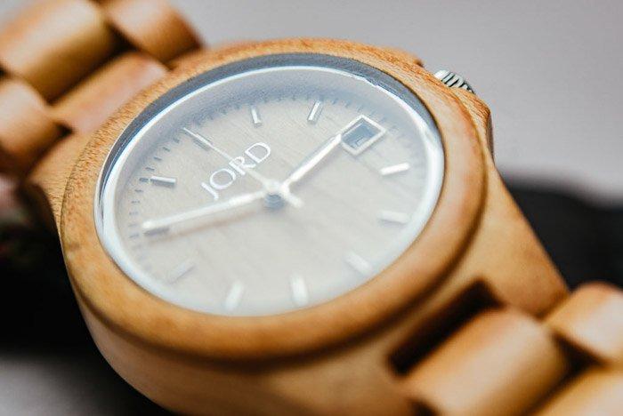 A macro photo of a wristwatch shot using lens reversing rings