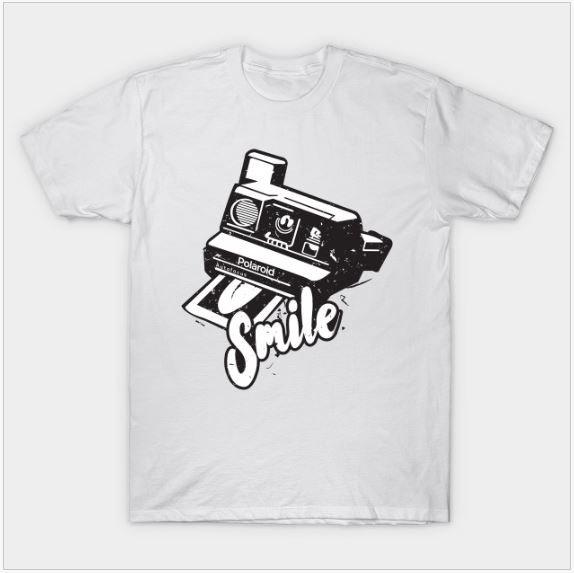 Polaroid Smile Retro - cool t-shirts by Teepublic
