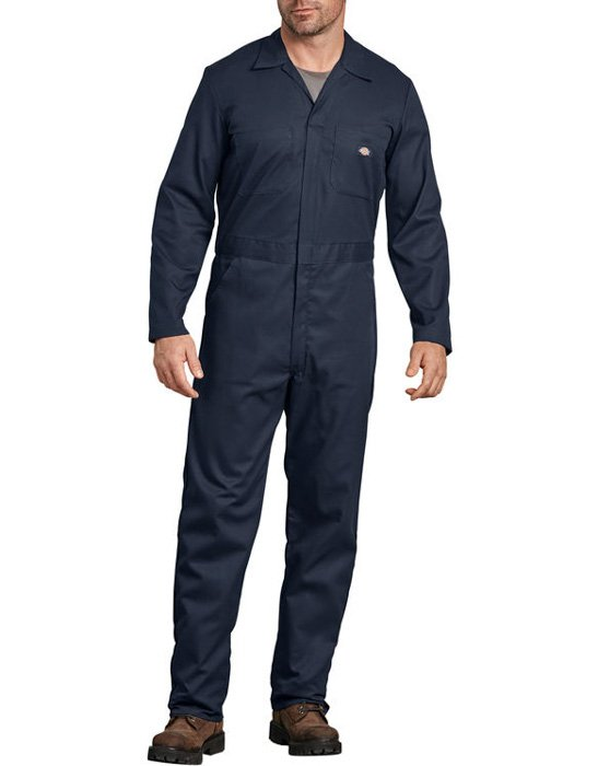 A maler model wearing Long Sleeve Coverall - urban exploration gear