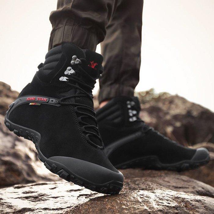 XIANG GUAN Men's Outdoor High-Top Waterproof Boots