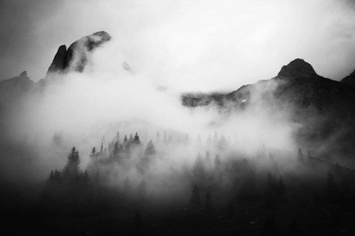 Mountain Fog - by Fabian Irsara, fine art photo
