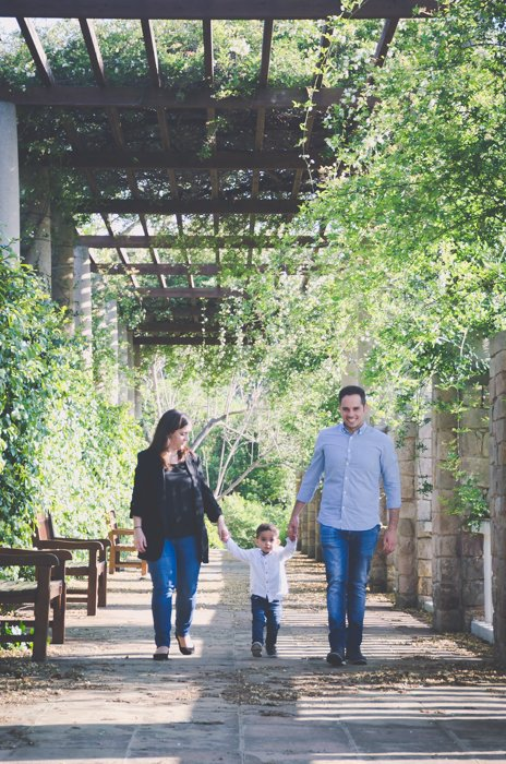 A family walking through the Greek Theater in Montjuïc - best barcelona pictures