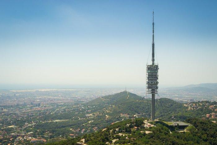 The Tibidabo is the 512 meters high mountain that overlooks Barcelona