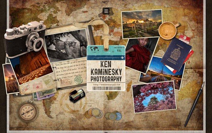 screenshot ken kaminesky travel photo blog