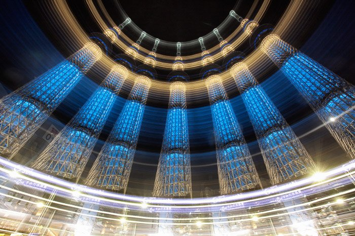 The Tokyo Skytree, this photo is a single exposure.