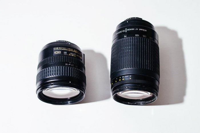 Two lenses for taking zoom burst photos