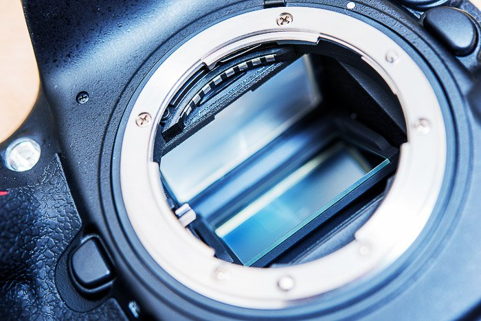A close up of the mirror om a DSLR camera - understanding parts of a camera