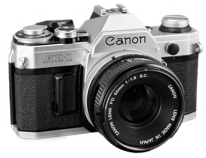 an image of the Canon AE-1 film camera