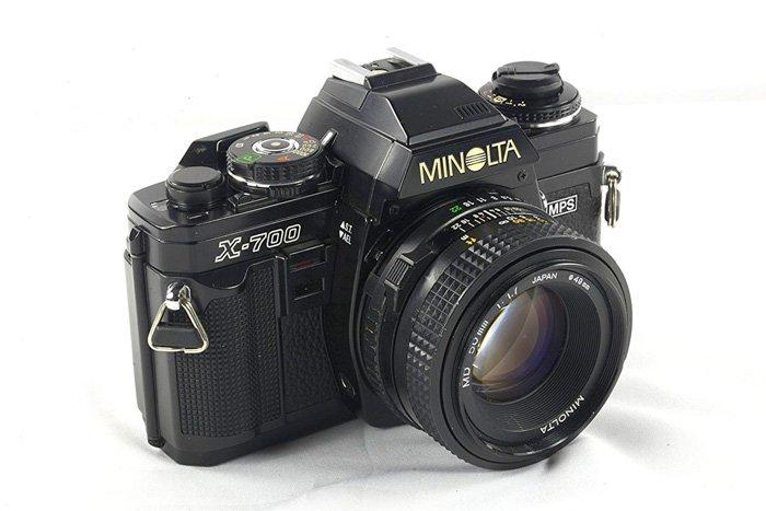The Minolta X-700 35mm camera