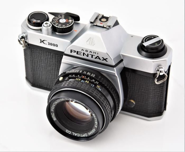 an image of the Pentax K1000 35mm camera