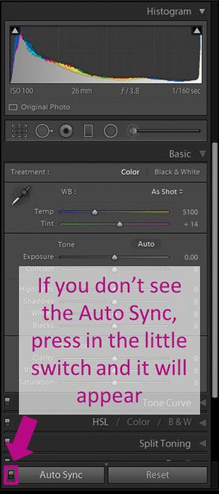 A screenshot showing how to auto sync