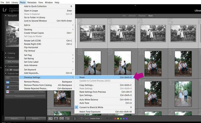 A screenshot showing how to batch edit - reset