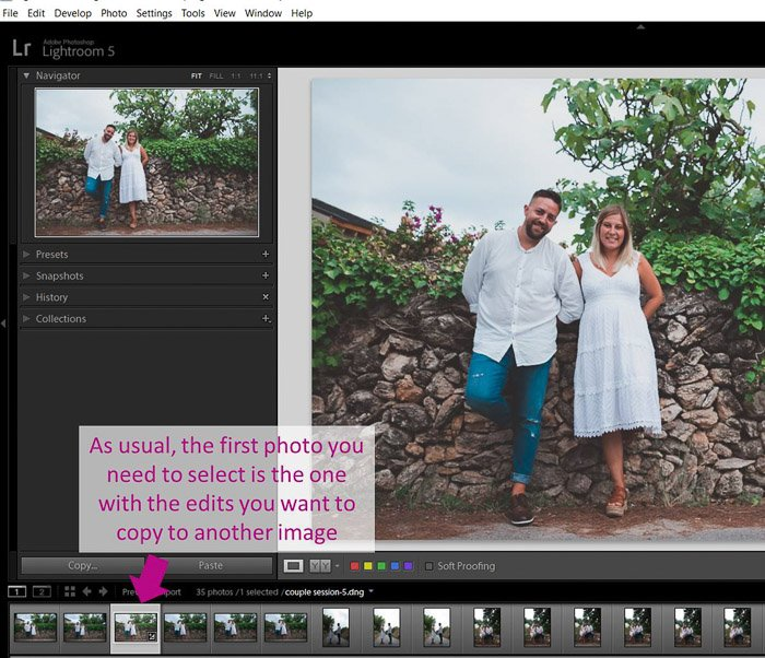 A screenshot showing how to batch edit in Lightroom - crop selection of settings
