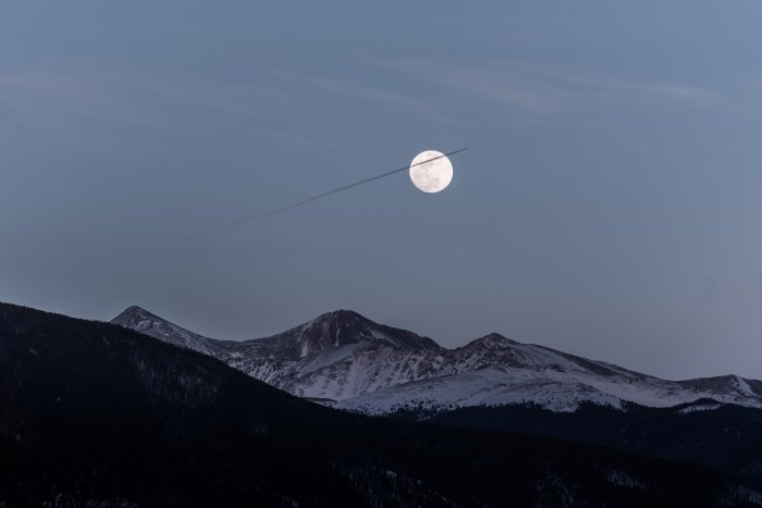 moon above mountains