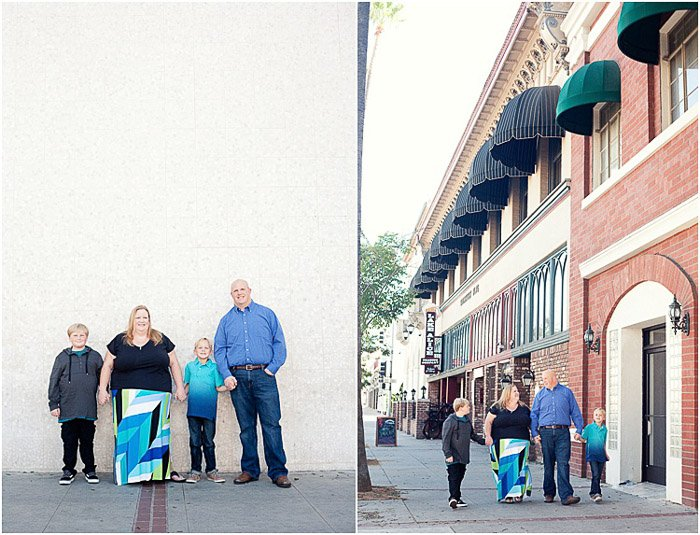 Outdoor family photography diptych