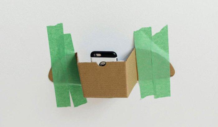 Photo of a DIY camera phone holder