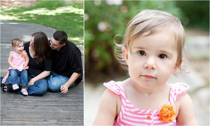 Sweet family porttrait diptych - how to photograph people