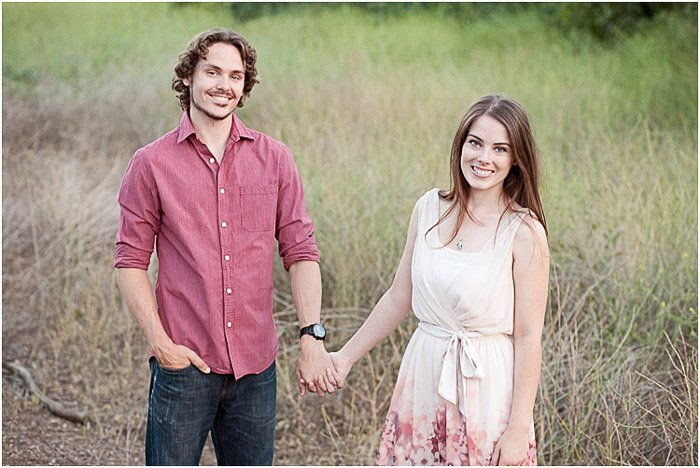 A dreamy portrait of a couple posing outdoors - people photography tips