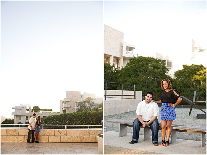 A diptych portrait of a couple posing outdoors - people photography tips
