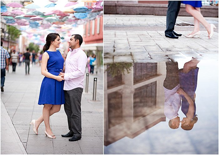 bright and airy couple photography diptych