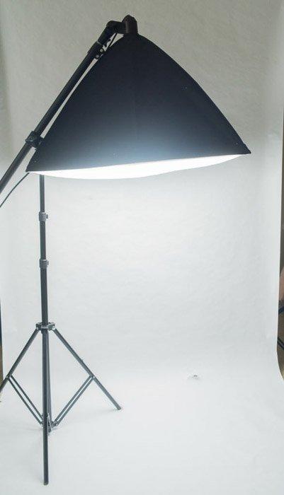Studio lighting setup for clothing photography