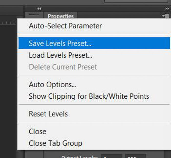A screenshot showing how to do color correction in Photoshop with a grey card