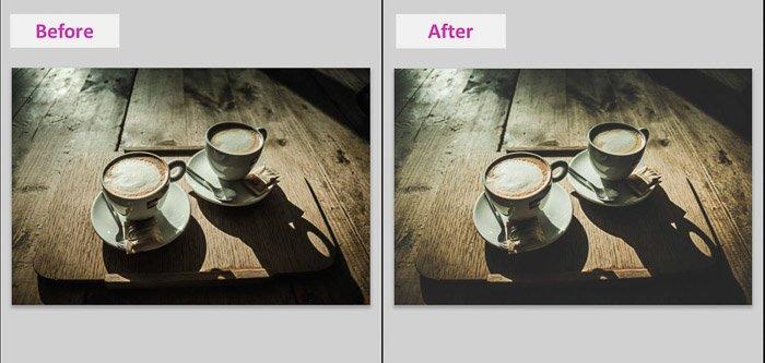 一个Lightroom屏幕截图,展示了如何制作黑人遮罩,以便在结果之前和之后褪色的外观