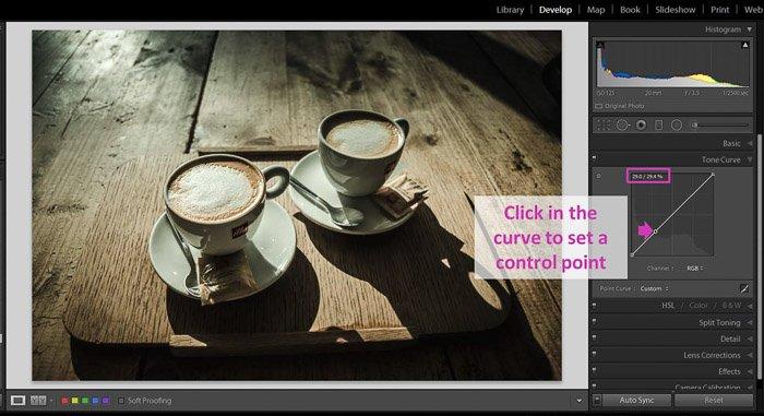 一个lightroom截图,显示如何制作黑色遮罩,给图像褪色 - 控制点