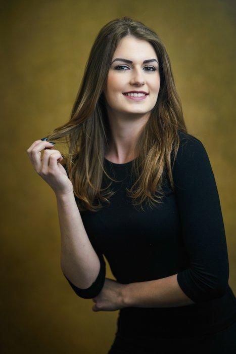 A classic studio portrait of a female model - panasonic lumix s1 and s1r review