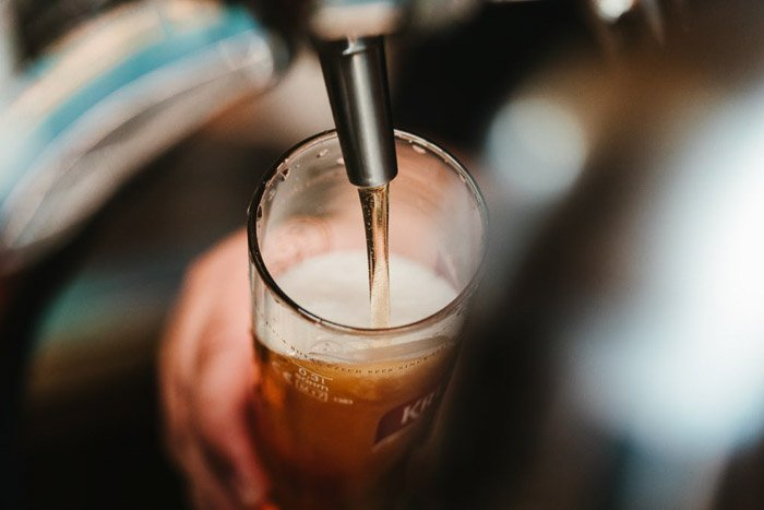 Pouring a pint of beer - beer pictures