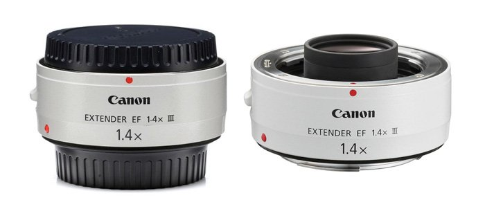 1.4x and 2x. A 1.4x teleconverter for a Canon 70-200 mmf/2.8L lens