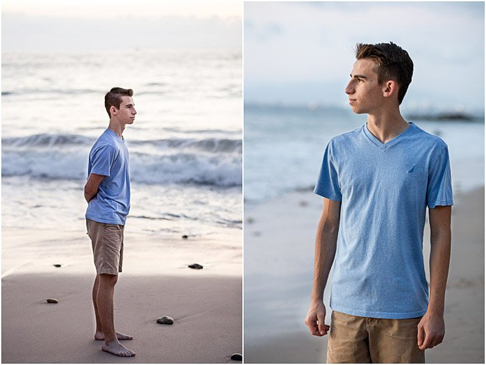 A relaxed portrait diptych of a young man - teenager pictures