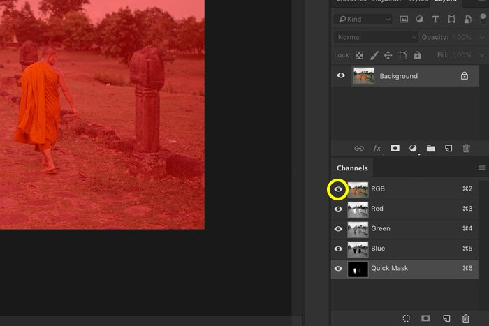 A screenshot showing how to use RGB colour to change colors in photoshop