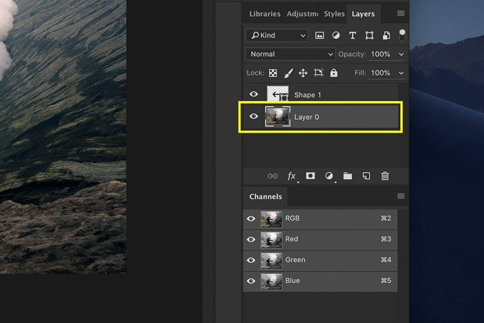 Screenshot showing how to Flip the background layer in Photoshop