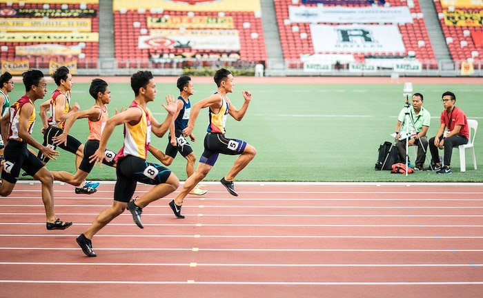 A sports photo of runners in a race